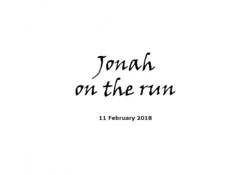Sermon 11-2-18 - Jonah On The Run