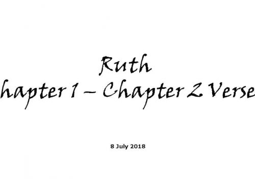 Ruth Chapter 1 – Chapter 2 Verse 3