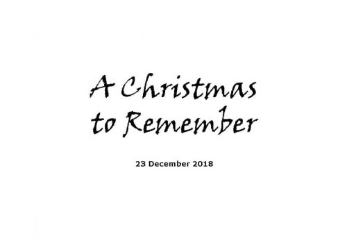 Sermon 23-12-18 - A Christmas To Remember