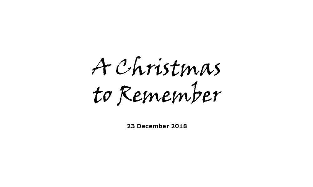 Sermon 23-12-18 - A Christmas to Remember
