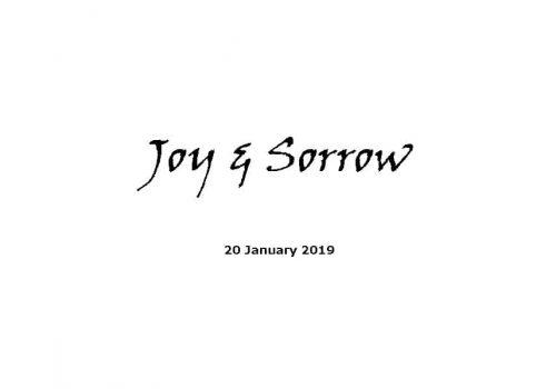 Sermon - 20-1-19 - Joy & Sorrow