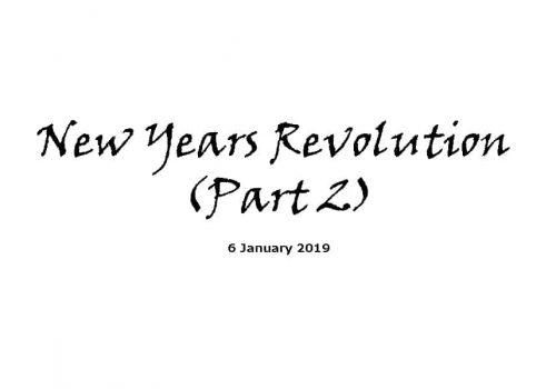 Sermon - 6-1-19 New Years Revolution (Part 2)