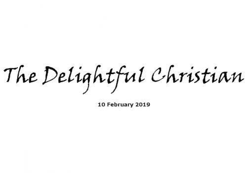 Sermon - 10-2-19 The Delightful Christian