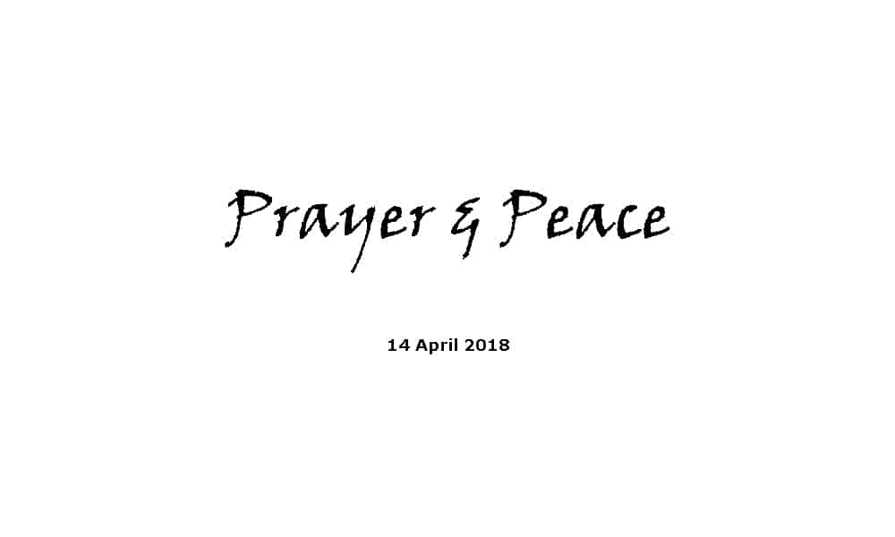 Sermon - 14-4-19 Prayer and Peace