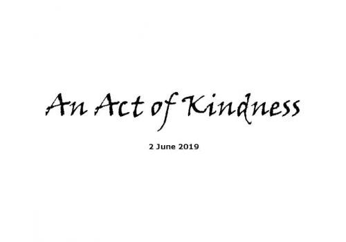 Sermon - 2-6-19 An Act Of Kindness