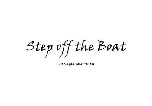 Sermon - 22-9-19 Step Off The Boat