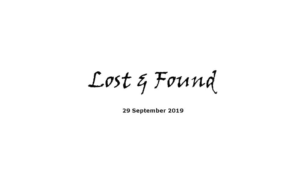 Sermon - 29-9-19 Lost & Found