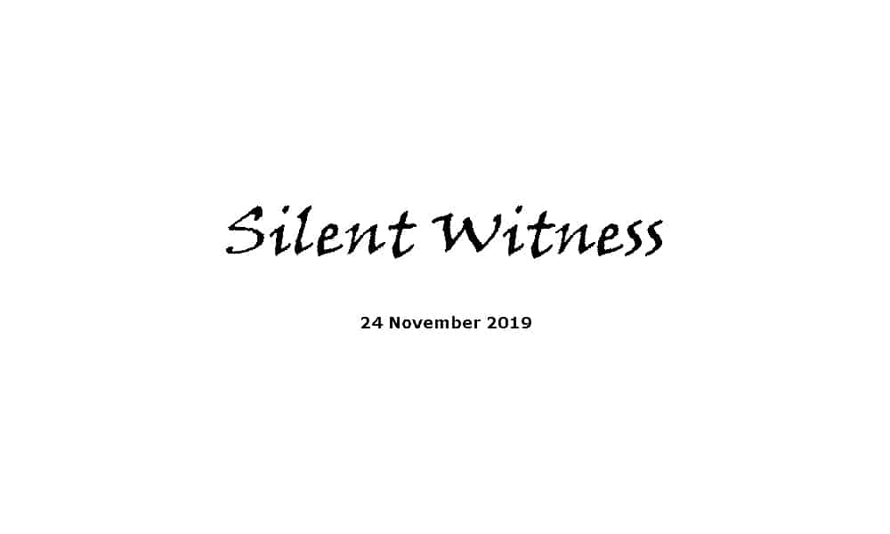 Sermon - 24-11-19 - Silent Witness