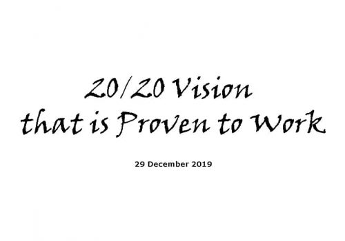20/20 Vision That Is Proven To Work