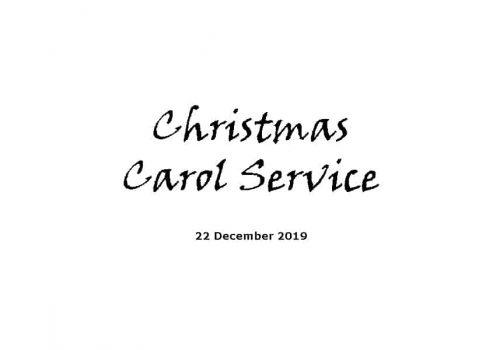 Service 22-12-19 - Christmas Carol Service