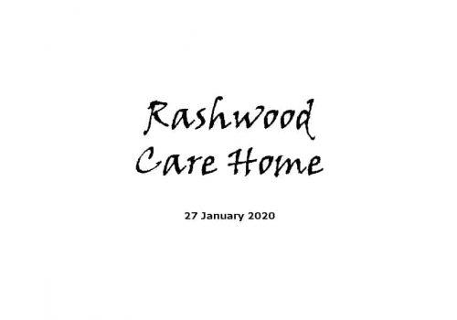 Rashwood Care Home Service - 27-1-20