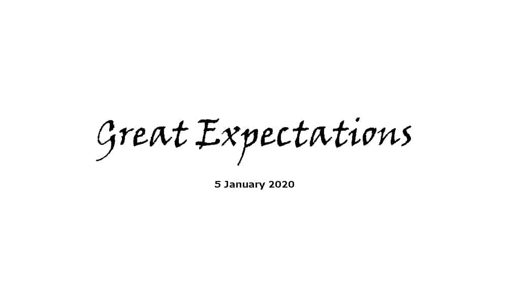 Sermon - 5-1-20 - Great Expectations