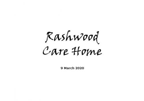 Rashwood Care Home Service - 9-3-20