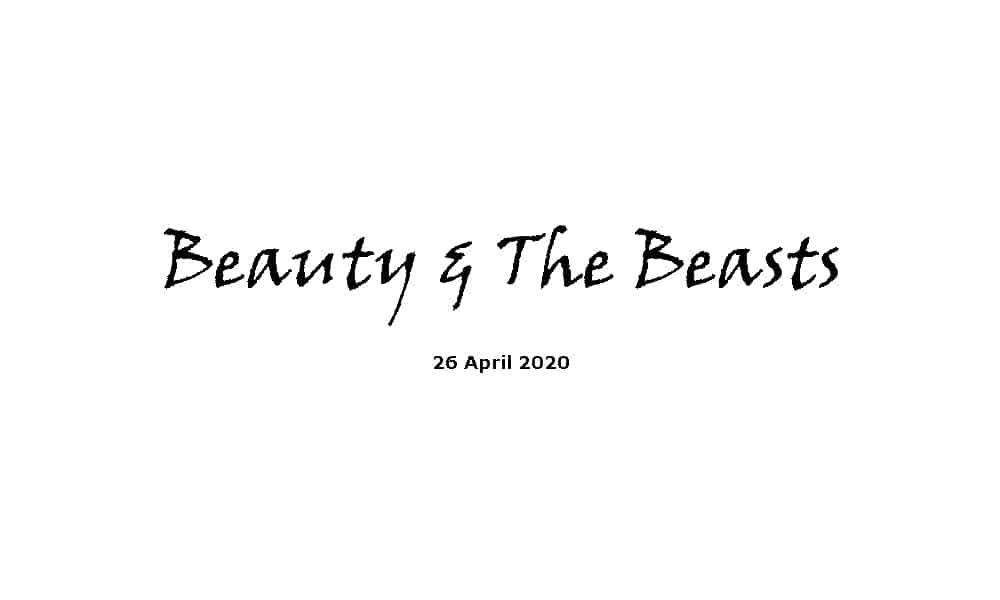 Sermon -26-4-20 - Beauty & The Beasts