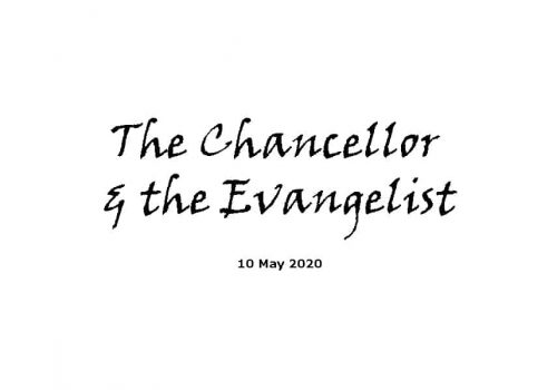Sermon - 10-5-20 - The Chancellor And The Evangelist