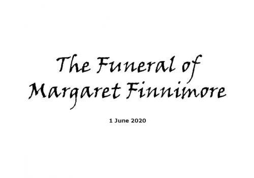 Funeral - 1-6-20 - Margaret Finnimore