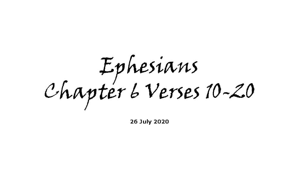 Reading - Ephesians Chapter 6 Verses 10-20