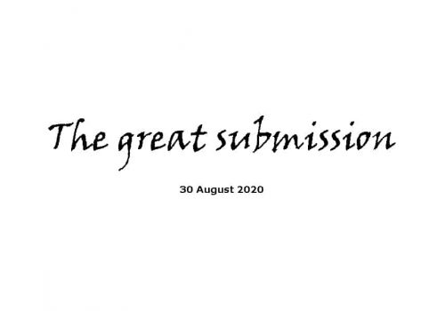 Sermon - 30-8-20 - The Great Submission