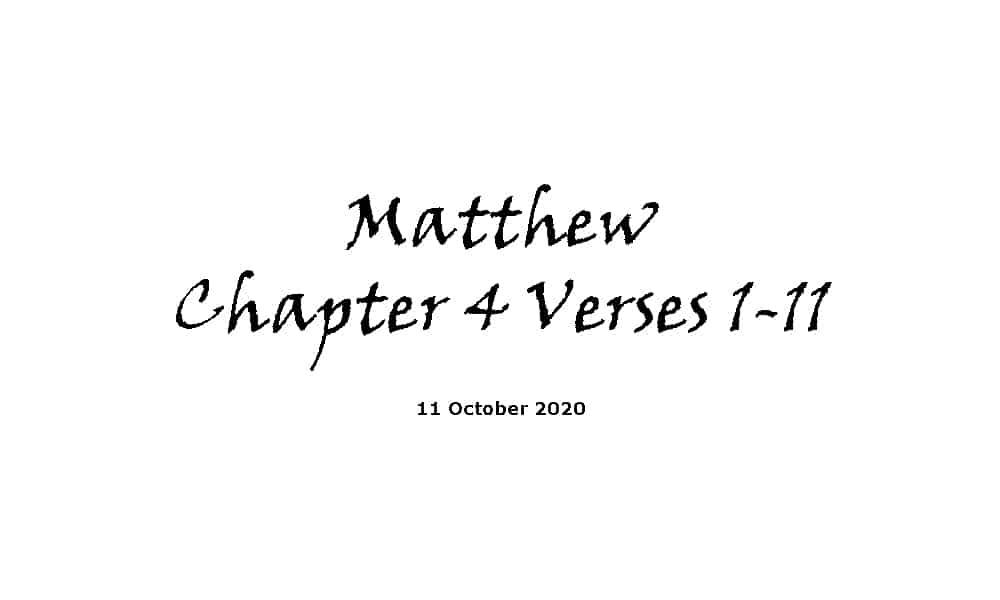 Reading - Matthew Chapter 4 Verses 1-11