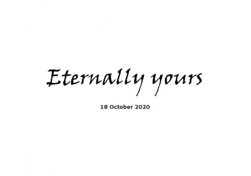 Sermon - 18-10-20 -Eternally Yours