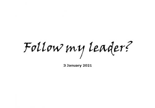 Sermon - Follow My Leader