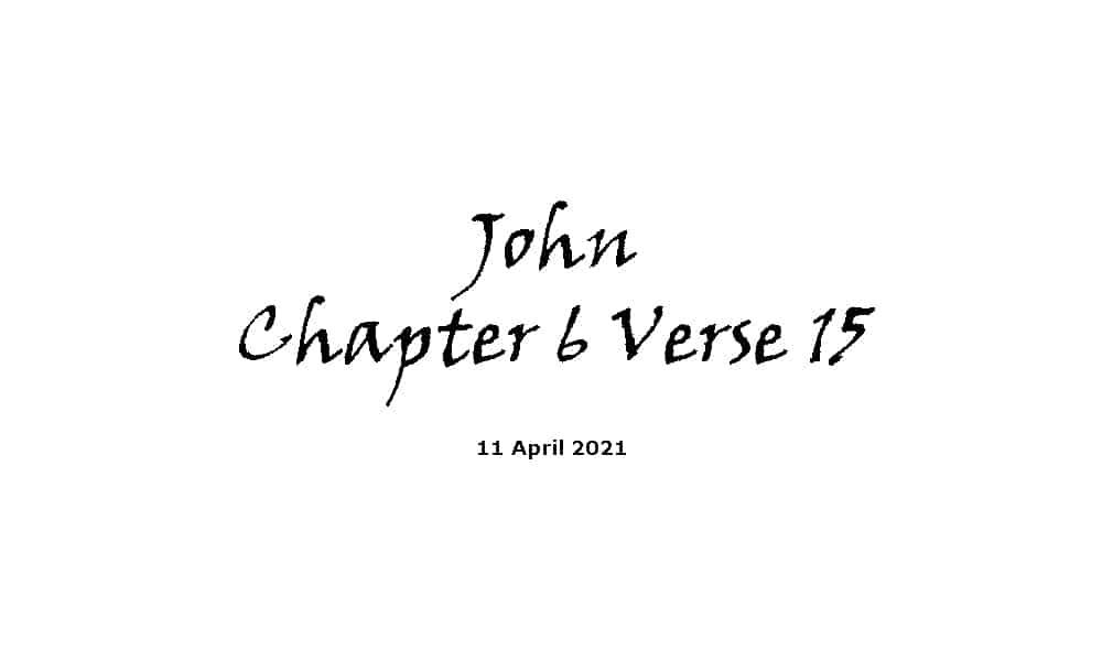 Reading - John Chapter 6 Verse 15