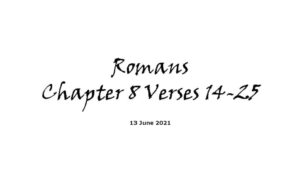 Romans Chapter 8 Verses 14-25