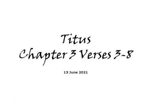 Titus Chapter 3 Verses 3-8