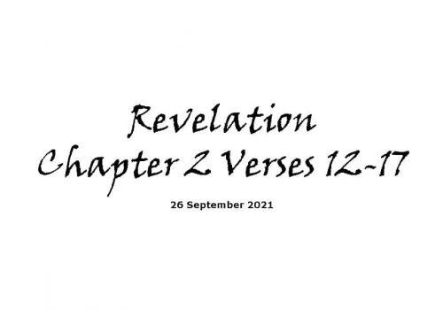 Revelation Chapter 2 Verses 12-17
