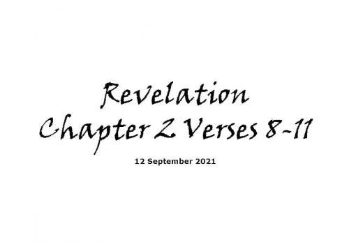 Revelation Chapter 2 Verses 8-11