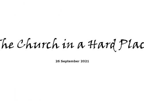 The Church In A Hard Place - 26-9-21