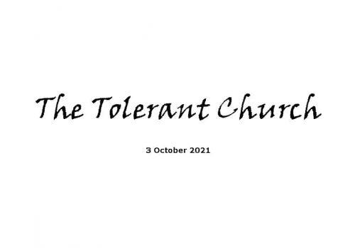 The Tolerant Church - 3-10-21